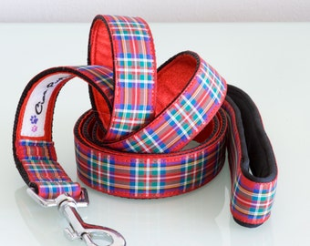 ROYAL STEWART Tartan Dog Leash with neoprene padded handle