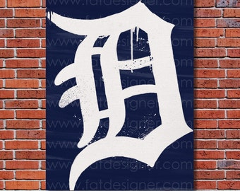 Detroit Tigers Graffiti- Art Print - Perfect for Mancave