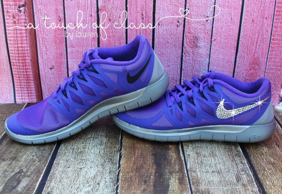 Women s Bling Nike Free 5.0 Flash Running by atouchofclassbylaur lovely 1840b5fa6