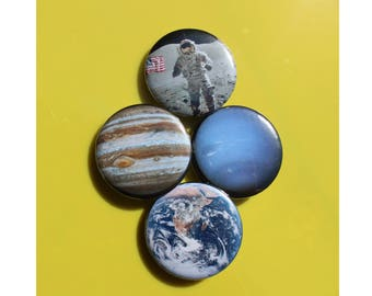 Space Pinback Buttons