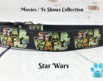 Star Wars Dog Collar, Force Awakens Dog Collar, Return of The Jedi, Empire Strikes Back, Dog Gift Ideas, Grosgrain Ribbon Collar, Pet Collar