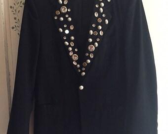 Vintage Pierre Cardin Tuxedo Jacket Blazer sz 37 L or M