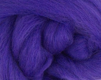 Merino Wool Combed Top/Roving by the Ounce or by the Pound - Ultraviolet Blue