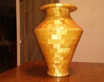Blue swirled vase