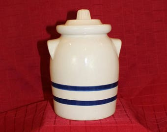 Vintage Robinson Ransbottom 2 QT Crock Canister with Lid