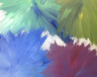 Bursts Original Acrylic Painting