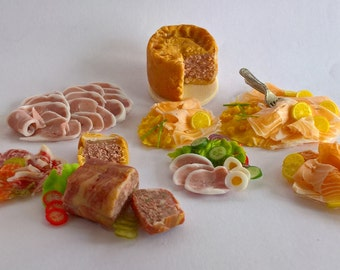 Dolls House Food:  Miniature Food -  Food Prepared for use on YOUR OWN CHINA -  Custom Order  ......   ##### Do Not Buy