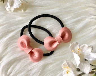 Set of 2/ Hair Bow Elastics/ Baby Pigtail/ Baby Ponytail/ Toddler Hair Bow / Hair Elastics/ Toddler Ponytail / Hair Ponytail Holder/ Gift