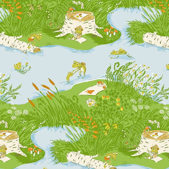 Briar Rose Frog Pond In Blue By Heather Ross For Windham
