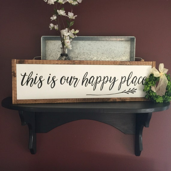 This is our happy place framed sign farmhouse style