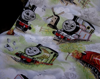 Thomas The Tank Engine Curtains, Nursery, Childs Bedroom, Horrockses, Vintage, Train Curtains, Reverend W. Awdry, Boys Bedroom, Toddler Room