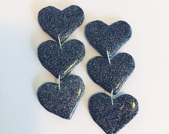 Love Bite Trio Earrings - Charcoal