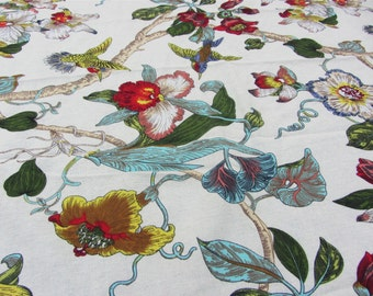 cotton and linen fabric ,140cm width,Birds DIY fabric