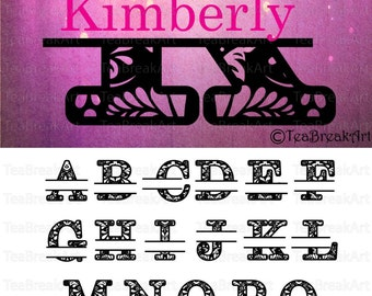 Zentangle Split Monogram Alphabet Letters A to Z SVG PNG dxf Digital Cutting Files Graphic printable iron on heat transfer decal 547C