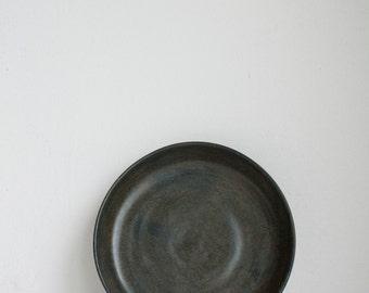 Ceramic Plate, Black and Brown, Stoneware