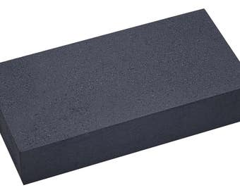 "Hard Charcoal Block - 5-1/2"" x 2-3/4"" x 1-1/4"" Heat-Reflective Jewelry Making Repair Soldering Work Surface Tool - SOL-482.00"