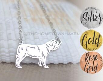 English Bulldog Necklace - Dog breed jewerly, Rescue dog necklace