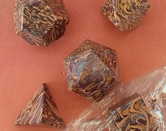 Stunning 5 Piece CALLIGRAPHY SCRIPT STONE Platonic Solids Crystal Set, Sacred Geometry, Reiki Set