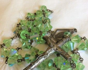 Aurora Borealis Bell-Shaped Bead Rosary