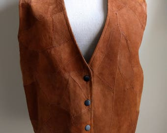 Vintage, New with Tags Suede Vest by Exceptional.