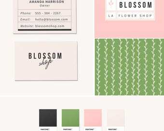 Pre-Made Branding Kit - Logo Design - Business Cards - Pattern Design - Floral Branding