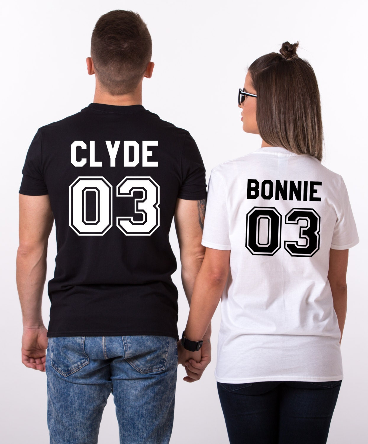 bonnie clyde 03 set of 2 couple t shirts bonnie clyde 03 set. Black Bedroom Furniture Sets. Home Design Ideas