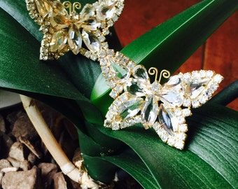 Pair of Vintage Butterfly brooches (pins), possibly Juliana