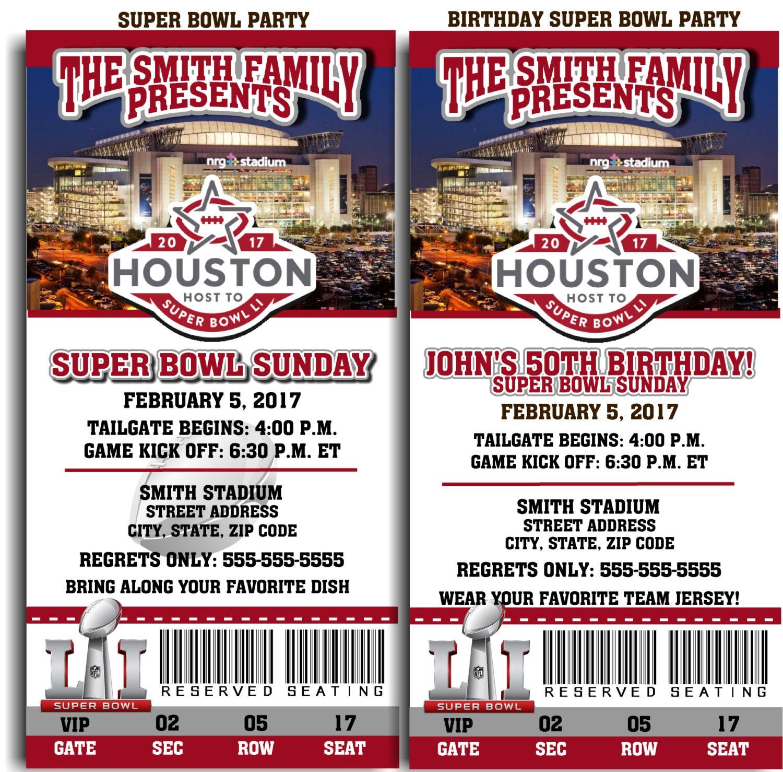 Football Birthday Invitations gangcraftnet – Free Printable Super Bowl Party Invitations
