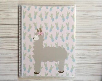 Llama Sticker book Alpaca Sticker book sticker album sticker organizer sticker storage for planner stickers and more!