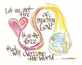 Let us not tire of Preaching Love.....