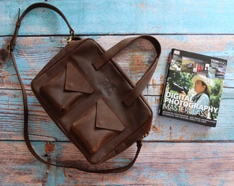 Brown laptop bag - leather laptop bag - laptop messenger bag - mens laptop bag - hippster bag - brown leather bag - back to school -
