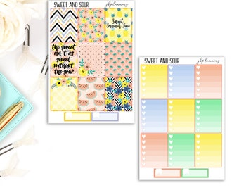 Sweet and Sour | Summer Planner Sticker Deluxe Kit