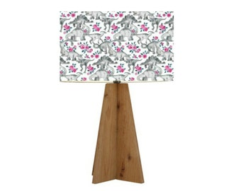 Dinosaurs and Pink Roses Lampshade