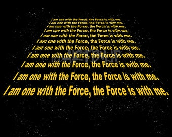 Star Wars Shirt | Rogue One Inspired | I am one with the Force | PREMIUM QUALITY | Jedi | Geek Clothing | T-Shirt | Geek Tee | Gift
