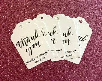 Thank you tags- wedding tags- birthday tags- favor tags- bridal shower tags-