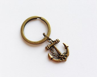 ANCHOR Keychain Anchor Keyring Sailor Keychain Sailor Gift Beach Keychain Beach Keyring Summer Keychain Summer Keyring Anchor Pendant Charm
