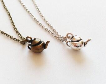 TEAPOT Necklace Teapot Jewelry Teapot Gift England Gift England Necklace Tea Lovers Necklace Tea Lovers Jewelry Tea Lovers Gift Teapot Charm