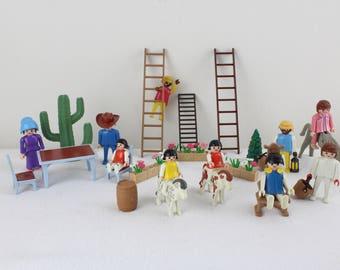 Playmobil toys collection Children's toys 80s toy figures collection. Children's room Children's room decoration Vintage