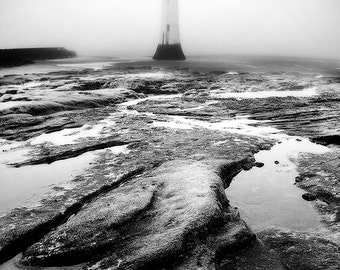 Lighthouse print, black and white, nature photography, landscape, fine art photography, framed print, framed art, 5x7, 8x12, 12x18, 16x24