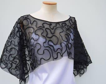 Gothic poncho rebroder, cape rebroder black