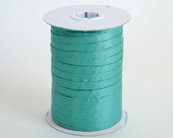 Raffia Ribbon, Teal Raffia, Paper Raffia, Teal Ribbon, Paper Ribbon, Craft Supply, Gift Packaging, Wrapping Supply, 100 Yards Spool