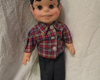 Vintage Unmarked plastic sleepy eyes male doll