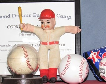 Vintage Celluloid Baseball Doll