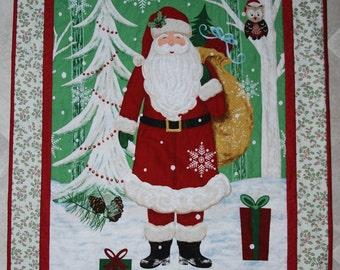 Patchwork Quilt, Santa Quilt, Christmas Quilt, Christmas Decoration, Christmas Gift