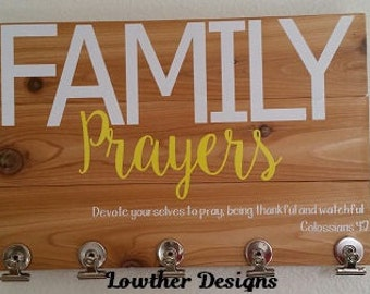 Family Prayers with clips, pictures, Family wall decor