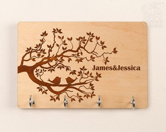 Key Holder, Key Rack, Wall Key Holder, Custom key rack, Key Hanger, Personalized Key Holder, Wedding Gift, Anniversary gift, shower gift