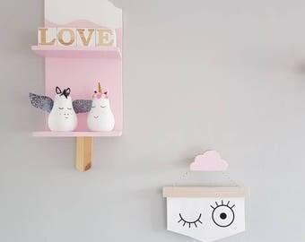 ice lolly shelf - wooden icepop - kids decorative shelf - nursery decor