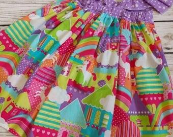 Girl unicorn dress, birthday unicorn dress, Baby unicorn dress, Toddler unicorn dress, Girls unicorn dress. Unicorns dress.  Sizes 1 to 9