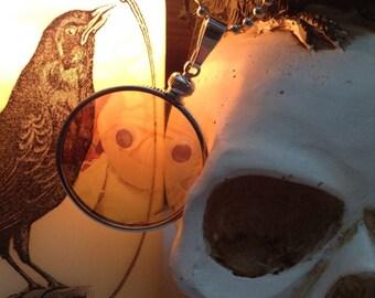 Sweet Mummy Friend transparent Glass Locket Necklace. Original Transparent Photography. Unique.