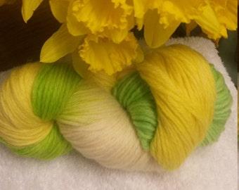 stunning spring colours hand dyed aran yarn 100 g